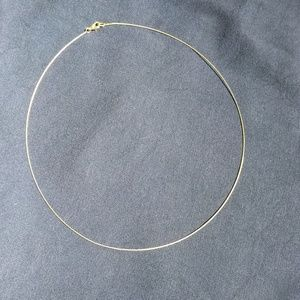 14k neck wire / micro mini omega